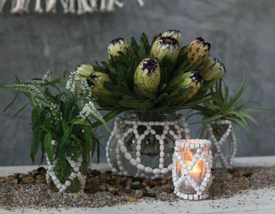 Beaded Candleholder