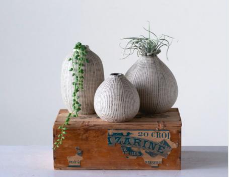 B&W Textured Vase