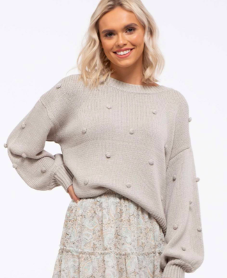 Pom-Pom Sage Sweater