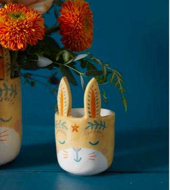 Frolic Bunny Pot