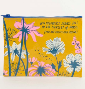 Wildflowers Stand Tall Zipper Pouch