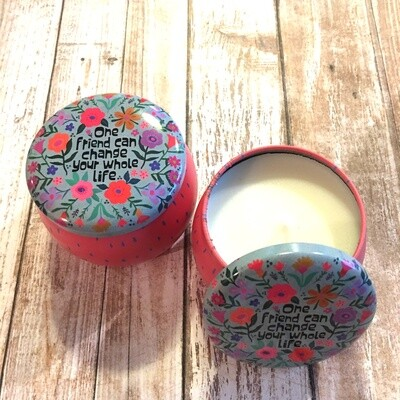 One Friend Tin Candle