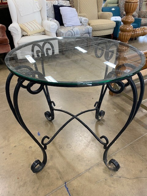 Glass-Top Outdoor Table