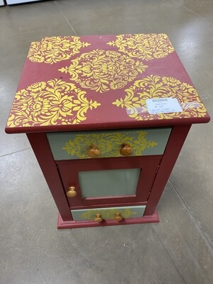 Nightstand - Patterned Red