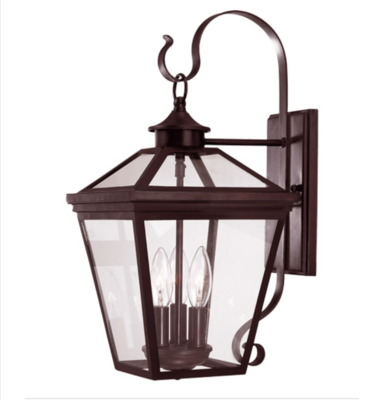 Savoy House - Ellijay 3-Light English Bronze Outdoor Wall Lantern