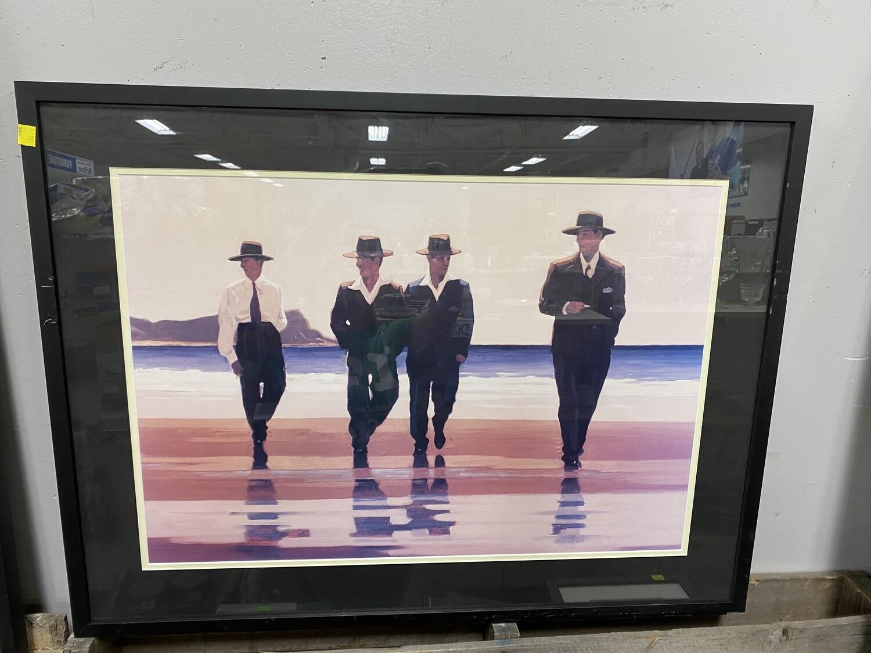 Large Framed Photo - Men on Beach