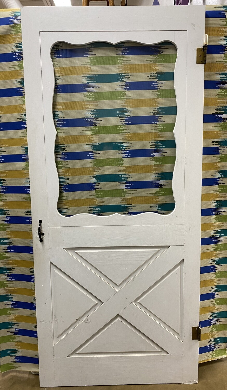 Storm Door - White with Glass Panel