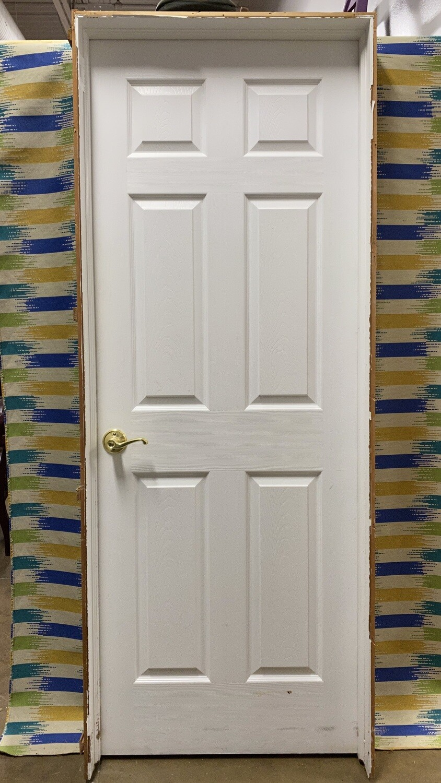 "Interior Door - Hollow Core 6 Panel with Frame 30"""