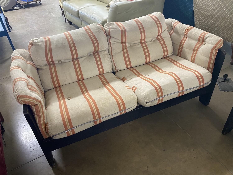 Striped Upholstered Loveseat