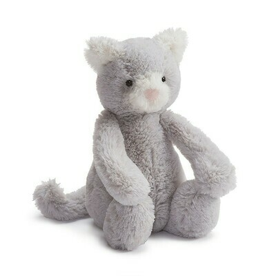 Bashful Gray Kitty Medium