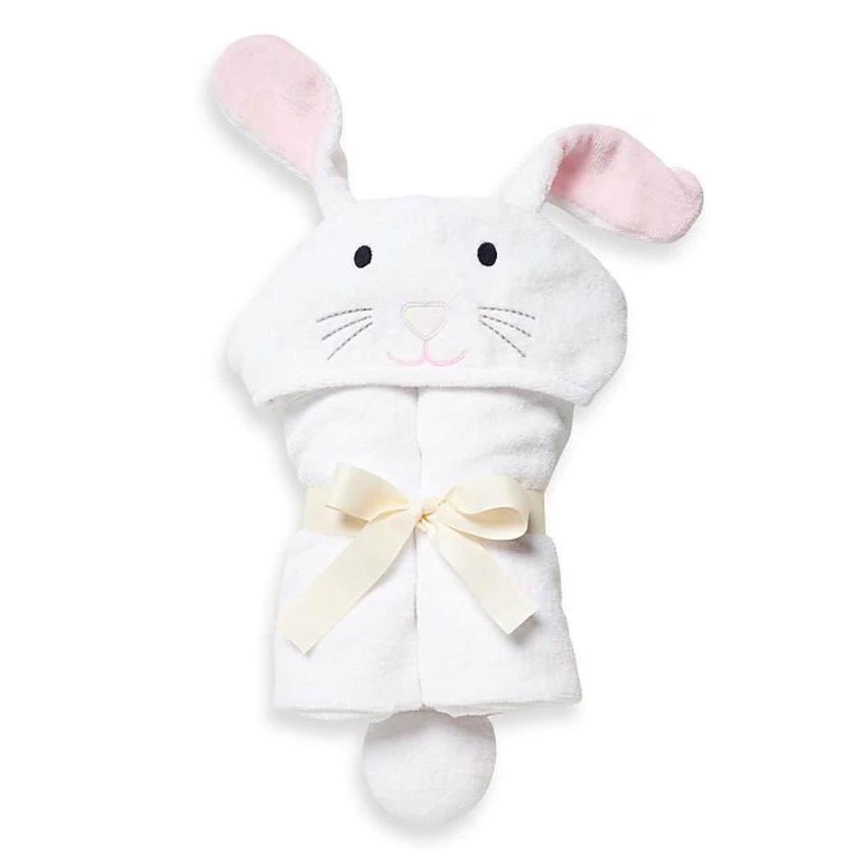 Bath Wrap-White Bunny