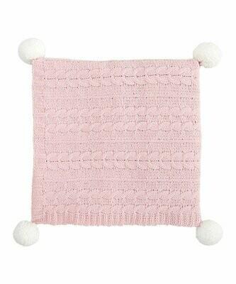 Blanket Pom Chenille Pink