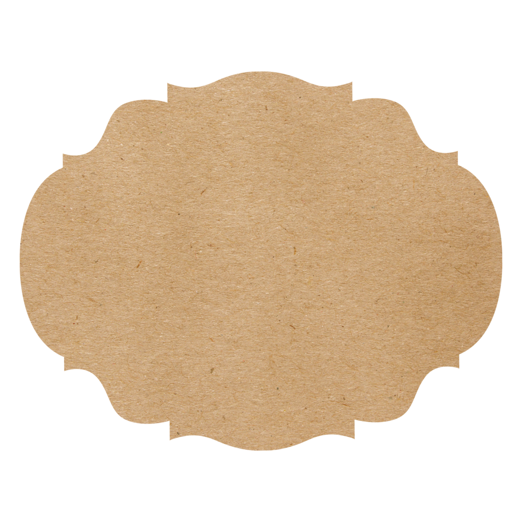 Die Cut Kraft French Frame Placemat 12 Sheets
