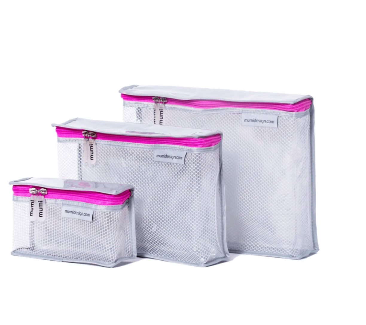 Pink Toiletry Cubes