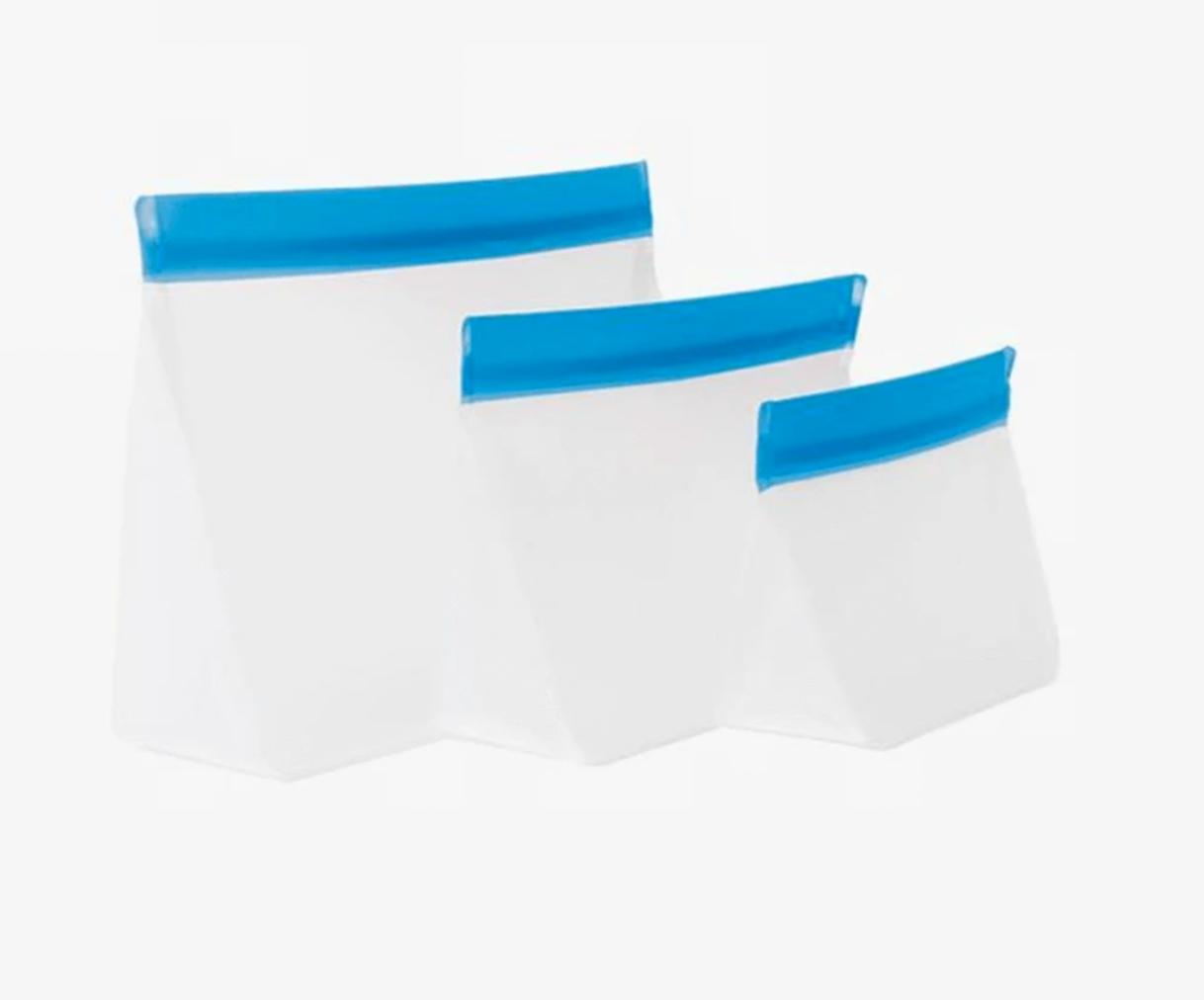 Blue Reusable Zipper Upper Bags