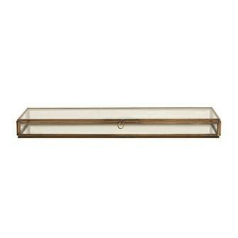 Glass Box W/Brass