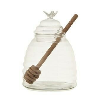 Round Glass Honey Jar