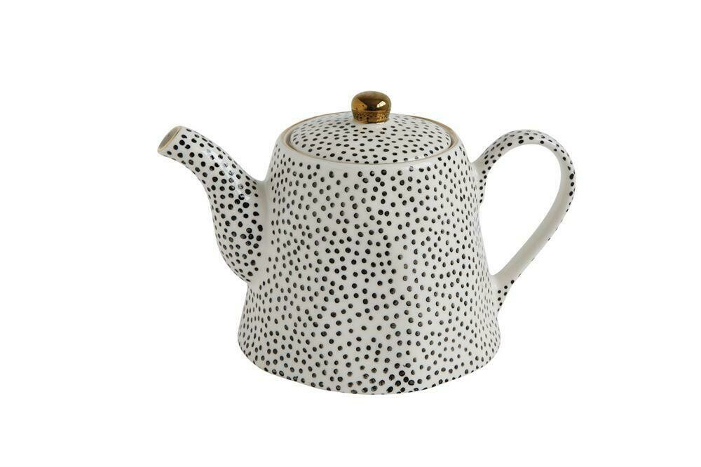 Stoneware Teapot Spotted