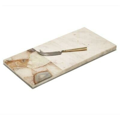Marble Cheese Tray W/ Knife