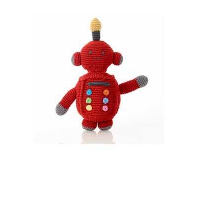 Red Robo Rattle Tin