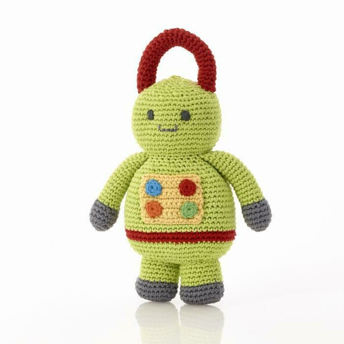 Green Robo Rattle Wire