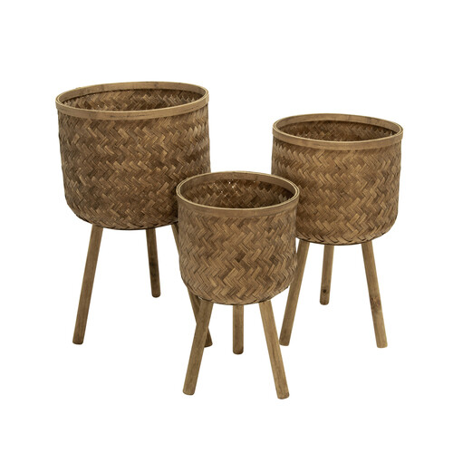 Bamboo Planters (Set of 3)