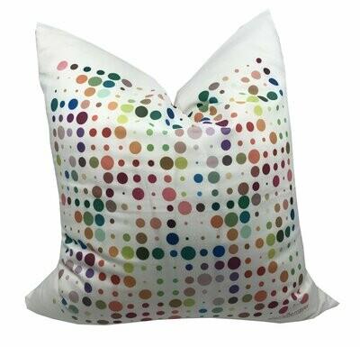 Mod Confetti White Cotton Pillow