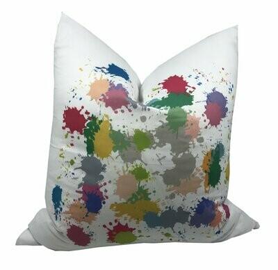 Paint Splatter Linen Cotton Pillow