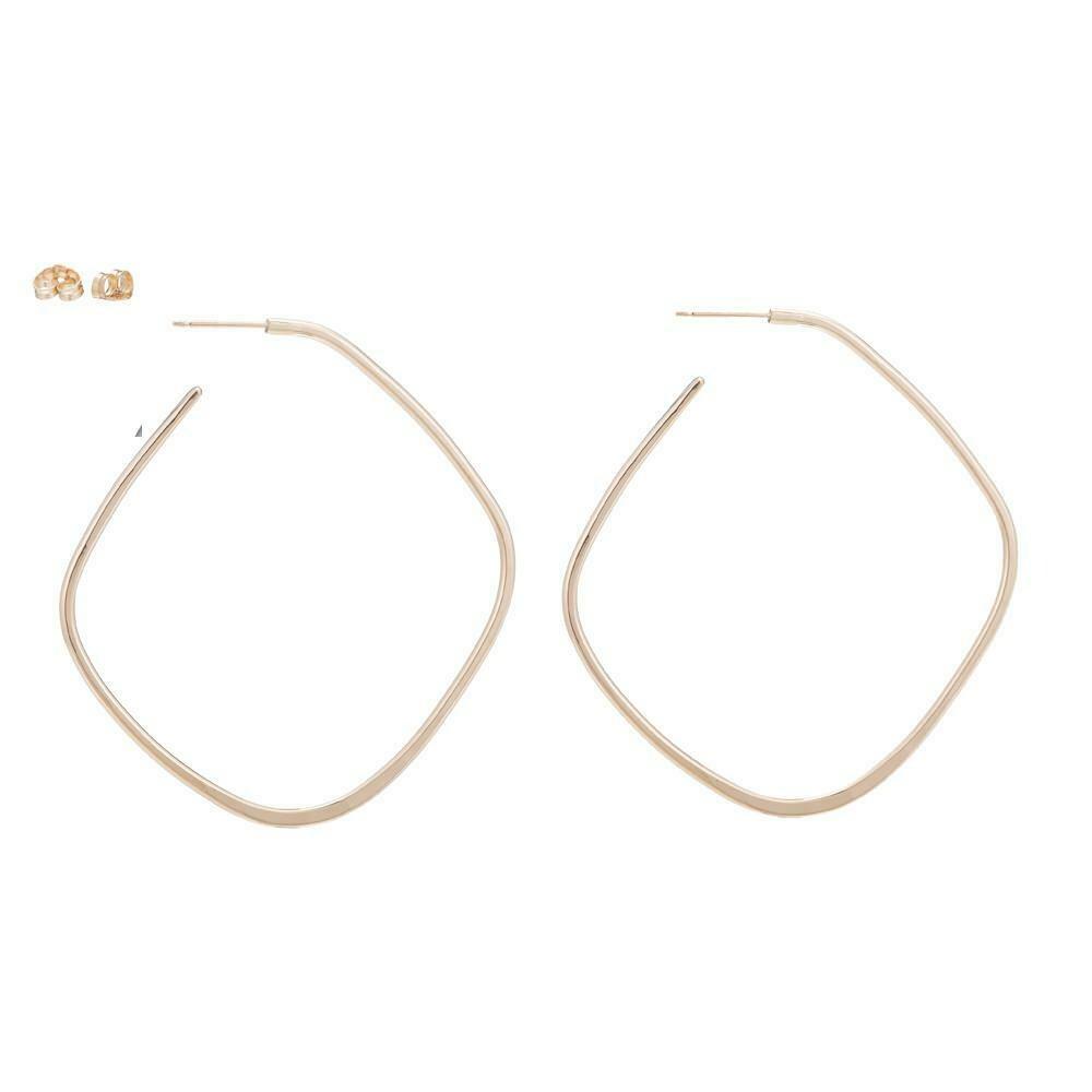 E327 Lg Gold Earrings