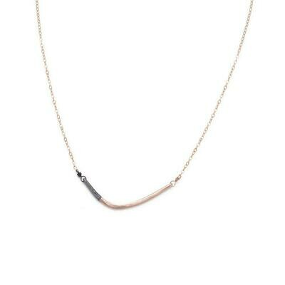 N276 Blk Rose Gold Chain Necklaces