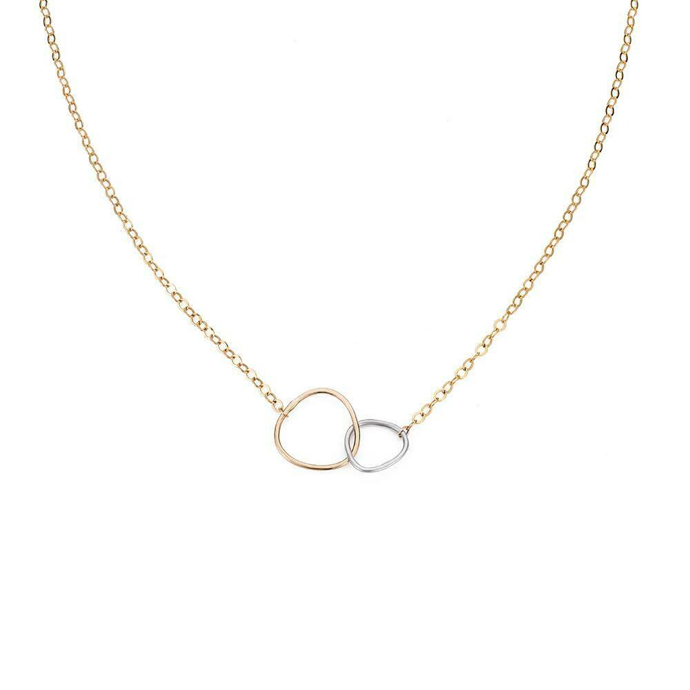 N298 Interlock Gold Chain Necklaces
