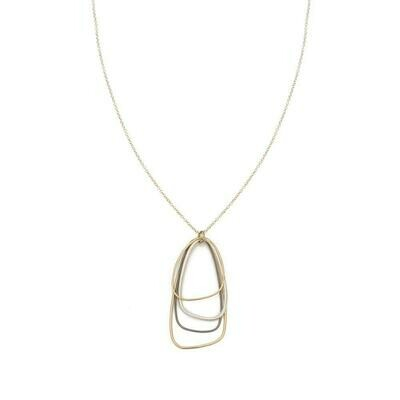 N299 3 Tone Triangle Necklaces
