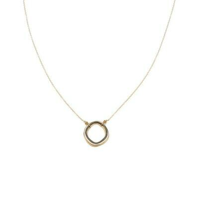 N302 Round 3Tone Gold Chain Necklaces