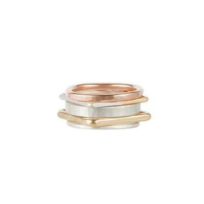 R50.SQ Gold/Silv Ring Set