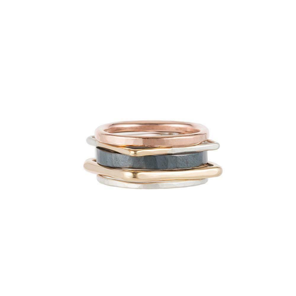 R50X Gold/Blk/Silv Ring Set