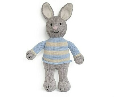 Cotton Bunny in Sweater -Grey & Blue