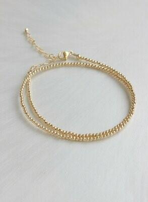 Gold Bead Bracelet B1116