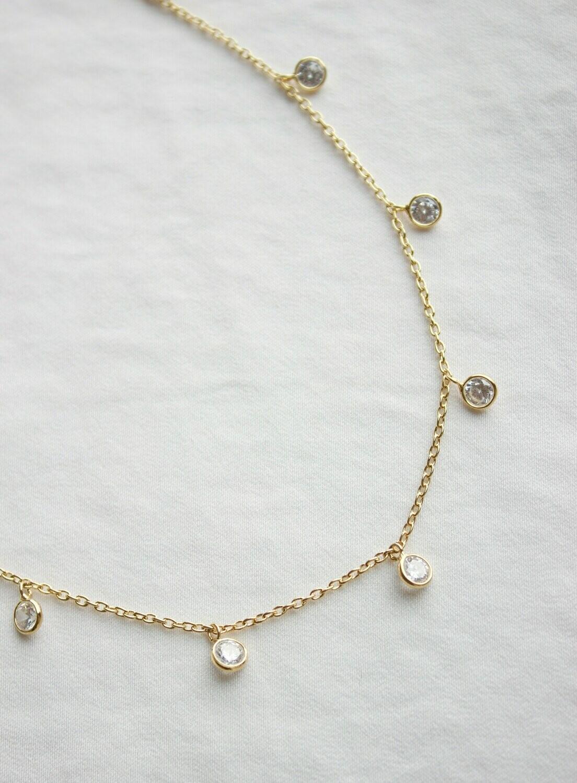 Round Drop Gold Chain CN1236