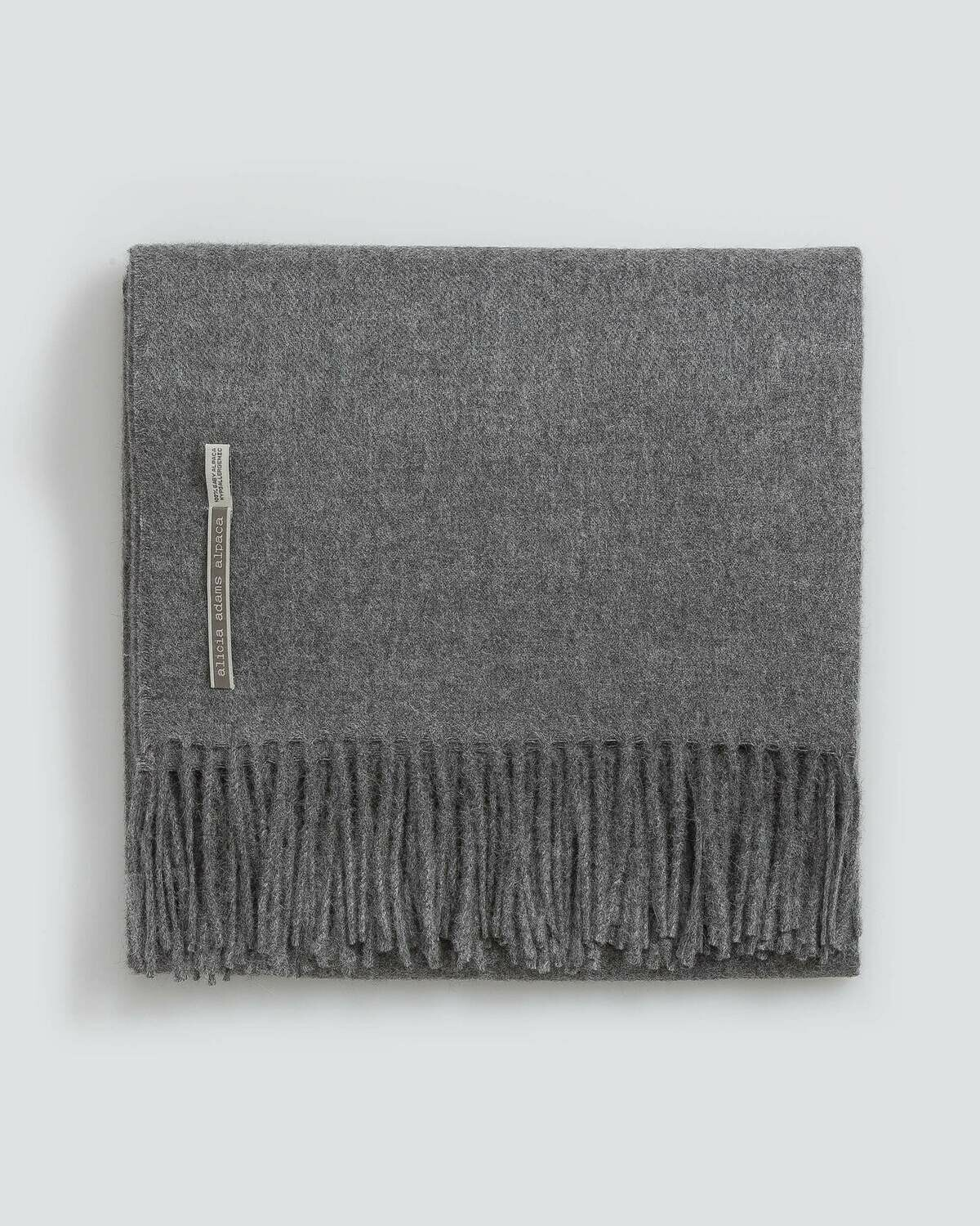 Gray Solid Throws