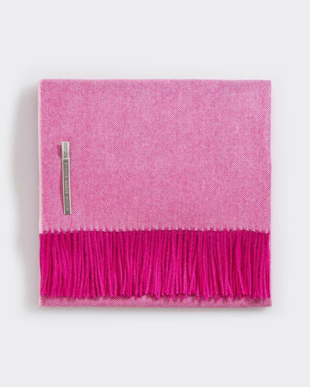 Hot Pink Throws Heringbone
