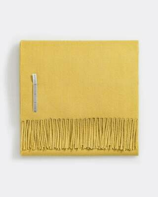French Yellow Solid Throws