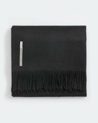 Jet Black Solid Throws