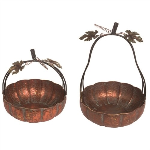 Metal Pumpkin Basket