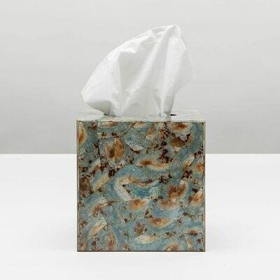 Blue Shell Tissue Box