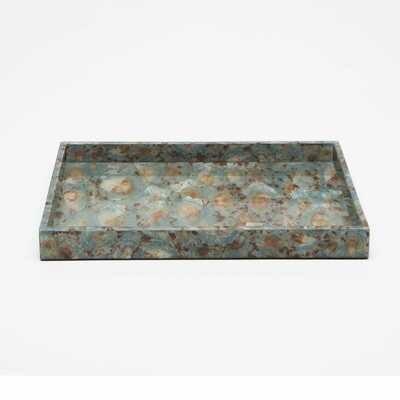 Lg Blue Shell Tray