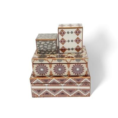 Cinnamon Short Painted Mirror Boxes