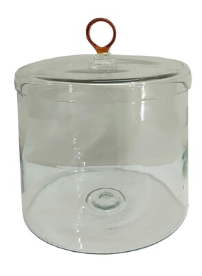 Lg. Glass Canister w/Amber