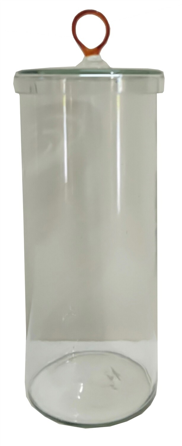 Tall Glass Canister w/Amber