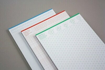Grits and Guides List Pad Set of 3