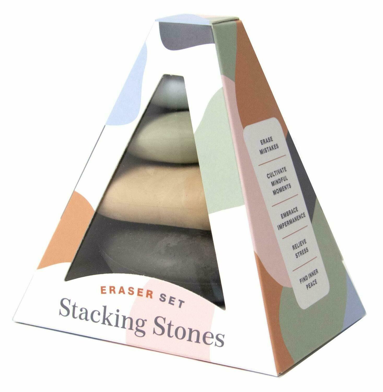 Stacking Stones Erasers